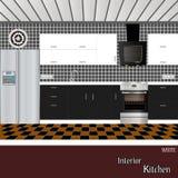Küchendesignweiß Stockfoto