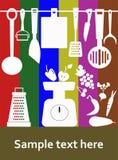 Küchengeräte lizenzfreie abbildung