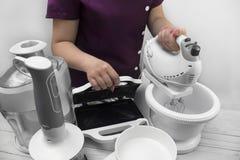 Küchengeräte: Toaster, Juicer und Mischer Stockfotografie