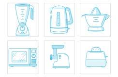 Küchengerätikonensatz Lizenzfreie Stockbilder