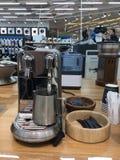 Küchengerätshop, coffe Maschine Stockbilder