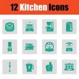 Küchenikonensatz Lizenzfreies Stockbild