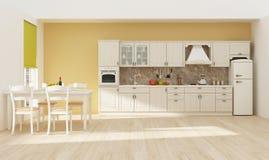 Kücheninnen-Wiedergabe 3D Lizenzfreie Stockfotografie
