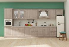 Kücheninnen-Wiedergabe 3D Stockbild