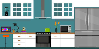 Kücheninnenmöbelhaus Lizenzfreies Stockbild