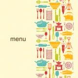 Küchenschmutzhintergrund mit Platz für Text Stockbilder