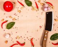 Küchentischhintergrund Lizenzfreie Stockfotos