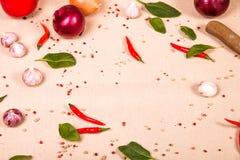 Küchentischhintergrund Stockfoto