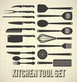 Küchenwerkzeugsatz Stockfoto