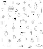 Küchenzusatzmuster Stockfotografie