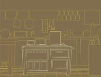 Küchezeilen lizenzfreie stockfotos
