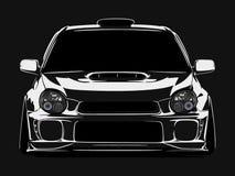 Kühle Autovektorillustration mit Details und Schatteneffekt lizenzfreie stockfotos