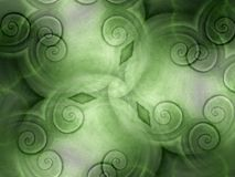 Kühle Beschaffenheiten in den grünen Strudeln Stockbild
