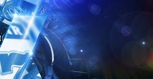Kühle blaue Kasino-Fahne vektor abbildung