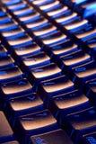 Kühle, blaue und orange Tastatur Stockfoto