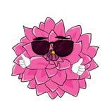 Kühle Dahlienblumenkarikatur Lizenzfreies Stockfoto