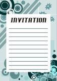 Kühle Einladung Stockbild