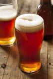 Kühle erneuernde dunkle Amber Beer Lizenzfreie Stockbilder
