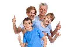 Kühle Familie hatte eine gute Zeit Lizenzfreie Stockbilder