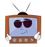 Kühle Fernsehkarikatur Lizenzfreie Stockbilder