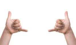 Kühle Finger Stockfoto