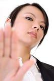 Kühle Geschäftsfrau Lizenzfreie Stockbilder