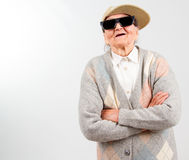 Kühle Großmutter Stockfotos