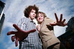 Kühle junge Paare Lizenzfreie Stockfotos
