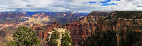 Kühle Landschaft von der Südkante von Grand Canyon, Arizona, vereinigtes S Stockfotografie