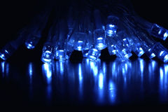 Kühle Leuchten des Blaus LED Stockfotos