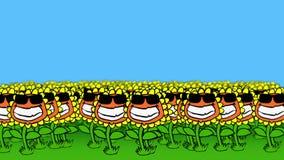 Kühle Sonnenblumen lizenzfreie abbildung