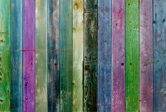 Kühle Ton Farbhölzerne Wand Lizenzfreies Stockbild