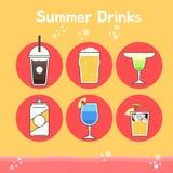 Kühle und köstliche Sommergetränke stock abbildung