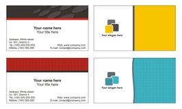 Kühle Visitenkarteschablonen Stockbild