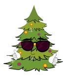 Kühle Weihnachtsbaumkarikatur Stockfotografie