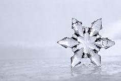 Kühle Winter-Schneeflocke mit linker Seite Copyspace Lizenzfreies Stockbild