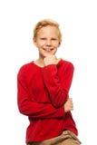 Kühlen Sie 11 Jahre alte Jungen ab Stockfotos