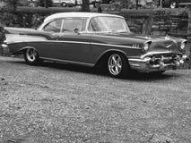 Kühlen Sie ab, eine welche Schönheit u. ein x27; 57 Chevy Stockbild