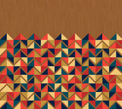Kühlen Sie farbige Dreieckhintergrundweinlese ab Stockfotografie