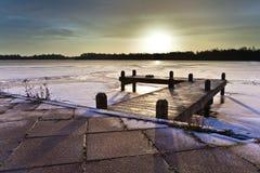 Kühlen Sie farbigen Sonnenaufgang ab Lizenzfreie Stockfotos