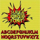 Kühlen Sie Knall Art Font, Alphabet ab Lizenzfreies Stockfoto