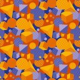 Kühlen Sie und geometrisches nahtloses Muster des Spaßes ab lizenzfreie abbildung