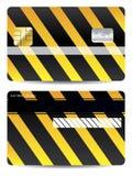 Kühlen Sie warnende Kreditkarteauslegung ab Lizenzfreie Stockfotografie