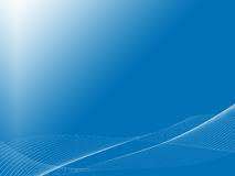 Kühlen Sie Wellen auf blauem backbround ab Lizenzfreie Stockbilder