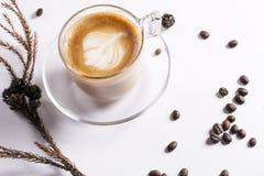 Kühlender Zeitkaffee Stockbild