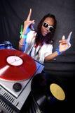 Kühler Afroamerikaner DJ Stockbild