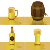 Kühler Bier-Vektor Stockbilder