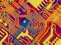 Kühler Computer zerteilt Hintergrund Lizenzfreie Stockfotografie
