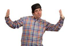 Kühler junger Kerl mit Kappe Stockbild