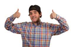 Kühler junger Kerl mit Kappe Stockbilder